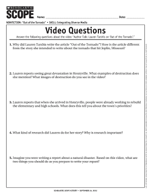 NoNfictioN out of the tornado Skill Video Questions