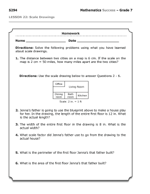Fillable online s294 mathematics success grade 7 lesson 22 scale fill online malvernweather Image collections