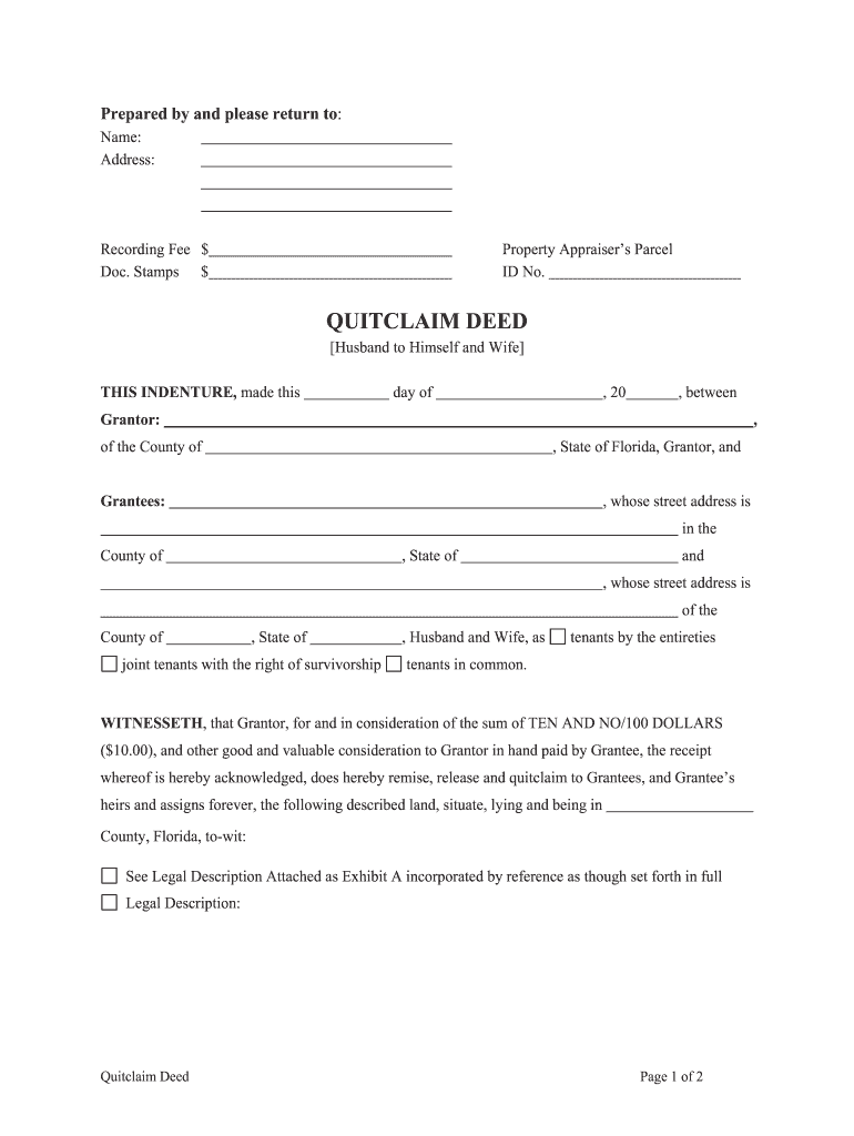 image regarding Free Printable Quit Claim Deed called Halt Declare Deed Florida - Fill On the net, Printable, Fillable