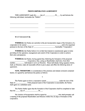 22 Printable Shareholders Agreement Pdf Forms And Templates