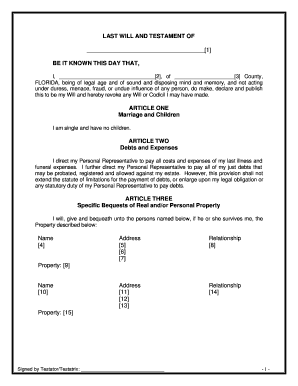 Bill Of Sale Form Kentucky Last Will And Testament Form Templates ...