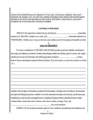 contract for deed texas fill online printable fillable blank pdffiller