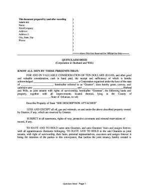 Bill Of Sale Form Idaho Quitclaim Deed Form Templates - Fillable ...