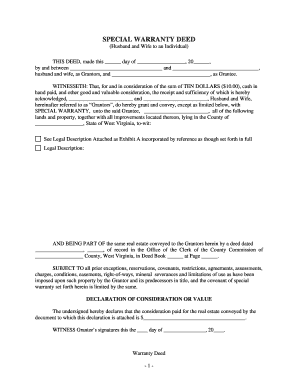 special warranty deed colorado Bill Of Sale Form Virginia Special Warranty Deed Templates ...