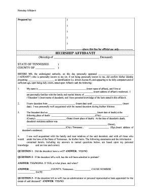 tn heirship affidavit form