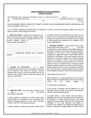Bill of sale form indiana commercial lease agreement form templates indiana residential lease or rental agreement for month to month platinumwayz