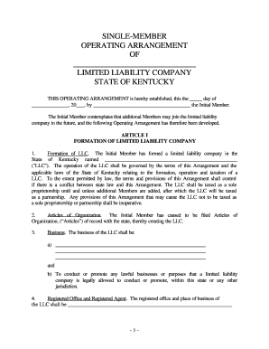 28 Printable Limited Liability Company Operating Agreement Forms And