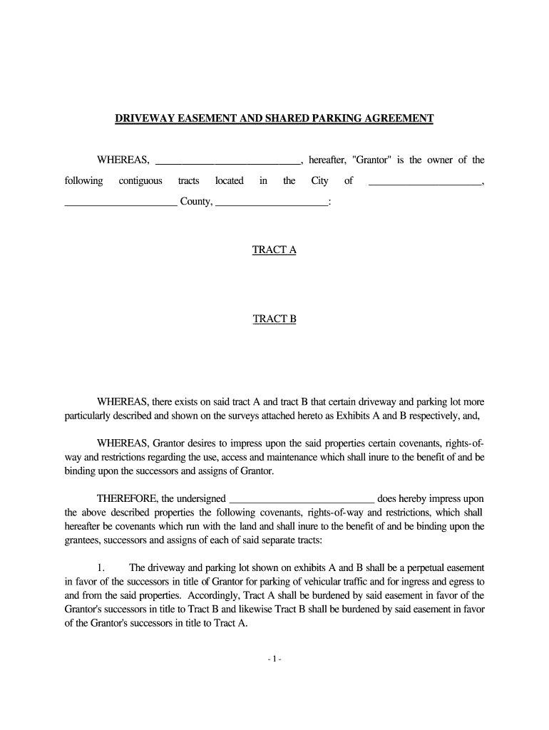 Shared Driveway Agreement Template Fill Online Printable