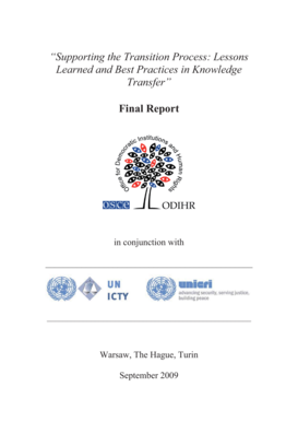 Supporting the Transition Process: Lessons Learned and Best ... - icty
