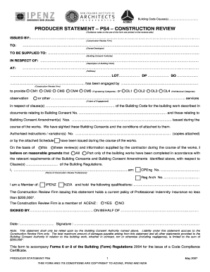 producer statement ps4 template form