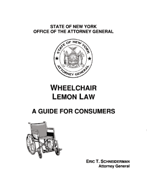 WHEELCHAIR LEMON LAW - New York Attorney General - ag ny