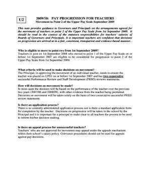 Fillable Online deni gov Upper Pay Scale Progression 2009 UPS 2 ...