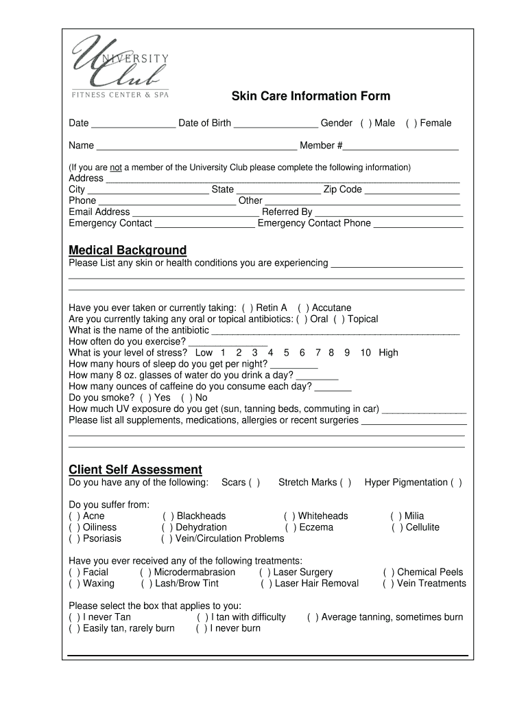 graphic regarding Printable Skin Assessment Form called Pores and skin Treatment Use Type - Fill On line, Printable, Fillable