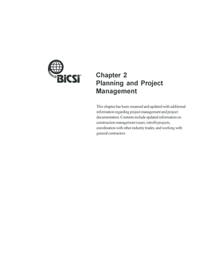 Chapter 2 Planning and Project Management - Bicsi - bicsi