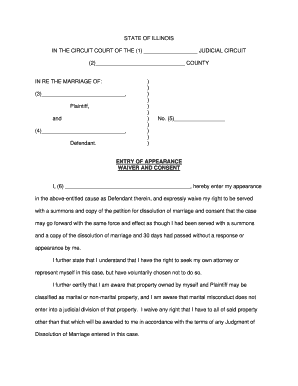 Entry Of Appearance Waiver And Consent - Fill Online, Printable ...