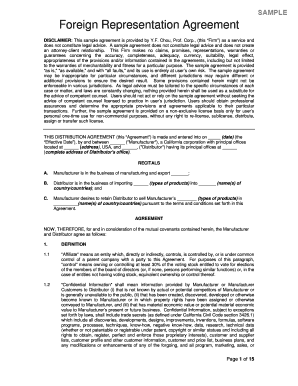 Sample Foreign Representation Agreement - tfrec wsu