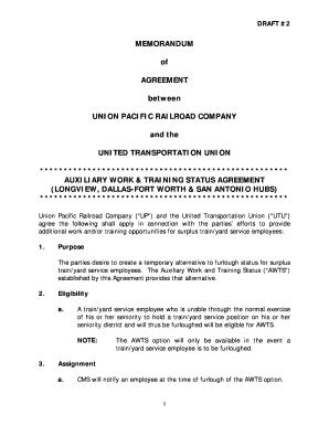 Memorandum of agreement template forms fillable printable memorandum of agreement between union bb utu local 489 utulocal489 spiritdancerdesigns Images