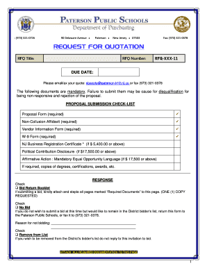 Form Of Request For Quotation - Fill Online, Printable, Fillable ...