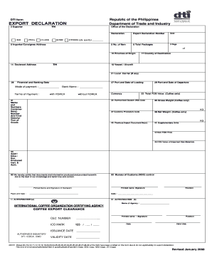 A Filled Export Declaration Form - Fill Online, Printable ...