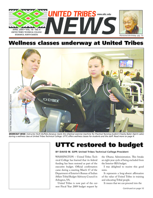 UTTC restored to budget - United Tribes Technical College - uttc