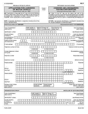 Car licence renewal form mvl1