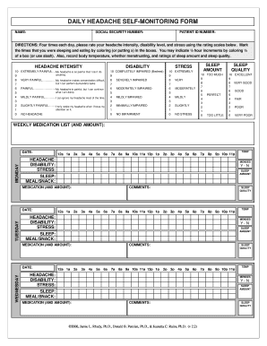 photograph regarding Printable Migraine Diary Worksheets named migraine magazine pdf - Fill Out On line, Obtain Printable