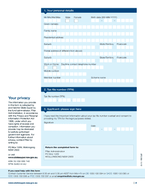 Tax File Number Collection Form Stc 204 - Fill Online