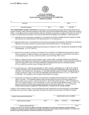 Ga Form St 5m Rev 52014 - Fill Online, Printable, Fillable, Blank ...
