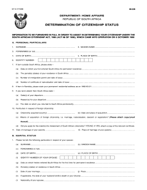 30392053  Namibian Government Application Form on