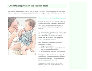Child Development in the Toddler Years - Ministry of Health