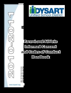 Fillable Online schoolweb dysart Elemiddle Athletic Program