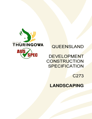 Queensland development construction specification c273 landscaping