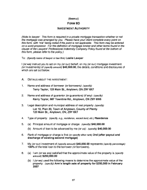 Private Mortgage Form 9d  Blank Mortgage Form