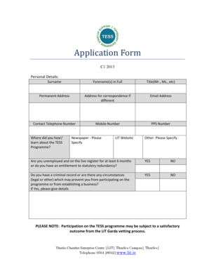 FAST Application Form. FAST