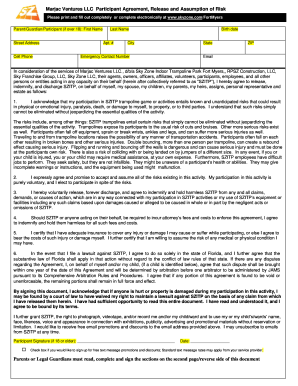 graphic relating to Printable Sky Zone Waiver identify Sky Zone Waiver - Fill On-line, Printable, Fillable, Blank