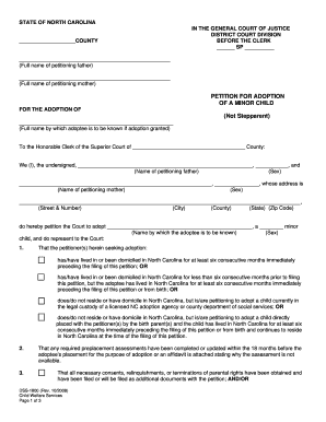 Petition Dss For Minor Child - Fill Online, Printable, Fillable ...