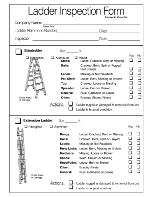 Ladder Inspection Checklist Fill Online Printable