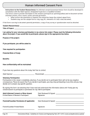 Human Informed Consent Form - The Ohio State University