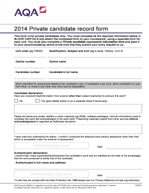 aqa coursework centre declaration form Centre declaration sheet - 2018 candidate record form - 2018 (2595 kb) coursework electronic submission aqa is not responsible for the content of external.