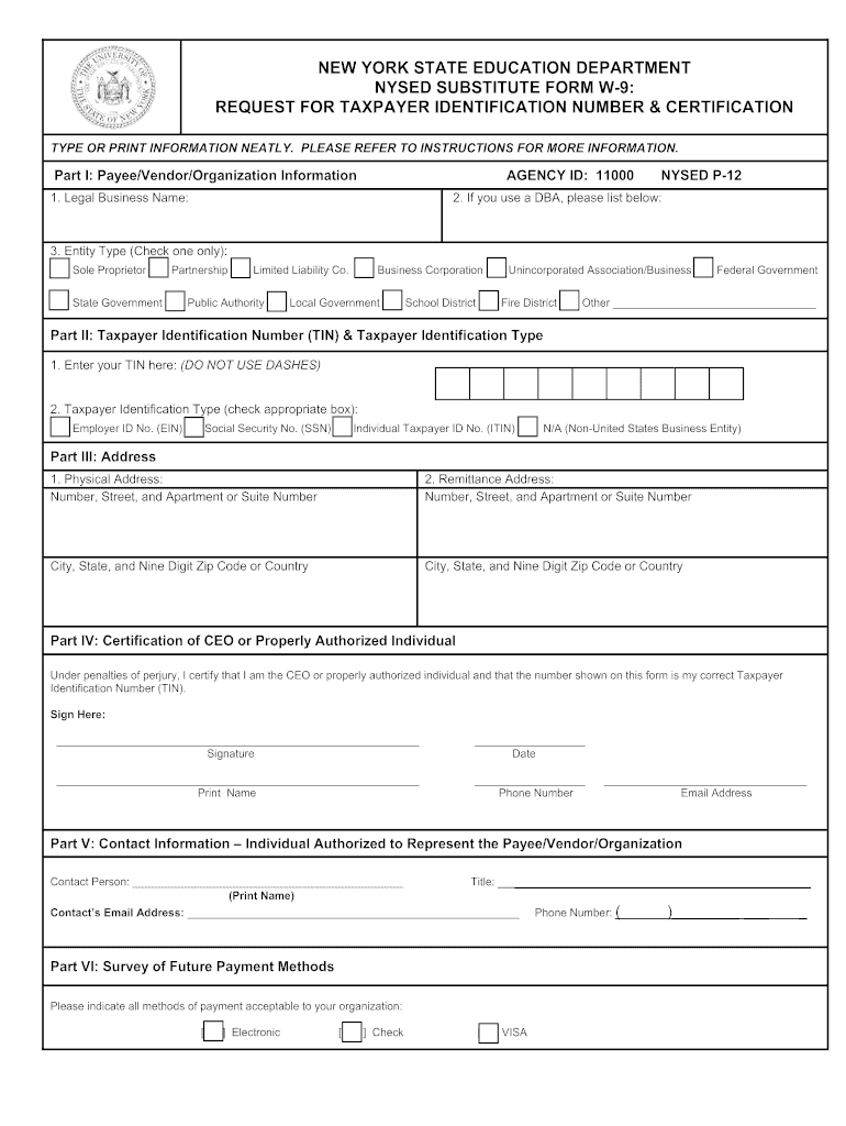 nyc dept of ed w9 form Fill Online, Printable, Fillable ...