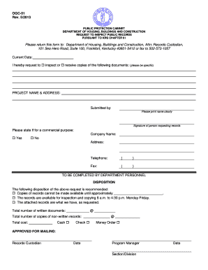 Open Records Form May 2013 - Department of Housing, Buildings ...