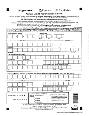 Annual Credit Report Request Form - Fill Online, Printable ...