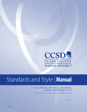 Clark County School District Standard And Style Manual Fill Online