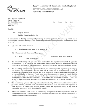 Sample letter of undertaking responsibility fill out online download the owner39s undertaking letter city of vancouver thecheapjerseys Choice Image
