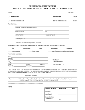 Birth Certificatepdfffilee Form  Blank Birth Certificate Form