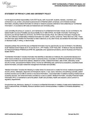 HIPAA Confidentiality Statement   UCSF Fresno   Fresno Ucsf