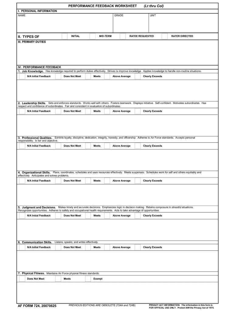 Form 724 - Fill Online, Printable, Fillable, Blank | PDFfiller