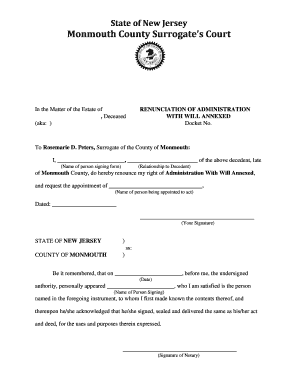 Monmouth County Online Records - Fill Online, Printable, Fillable ...