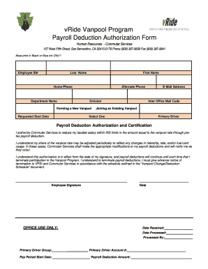 23 Printable Payroll Deduction Authorization Form California