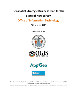 Geospatial Strategic Business Plan for the State of New Jersey ...